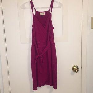 Pink tie around dress
